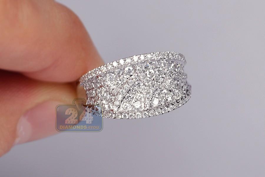 4c487e0c18f Womens 1.07 ct Diamond Vintage Ornament Ring 14K White Gold