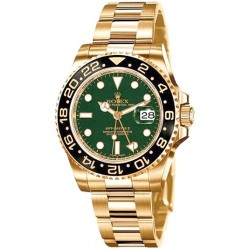 Rolex GMT Master II Yellow Gold Green Watch 116718LN