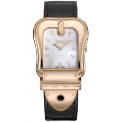 F380514521D1 Fendi B. Fendi Rose Gold Case Leather Strap Watch