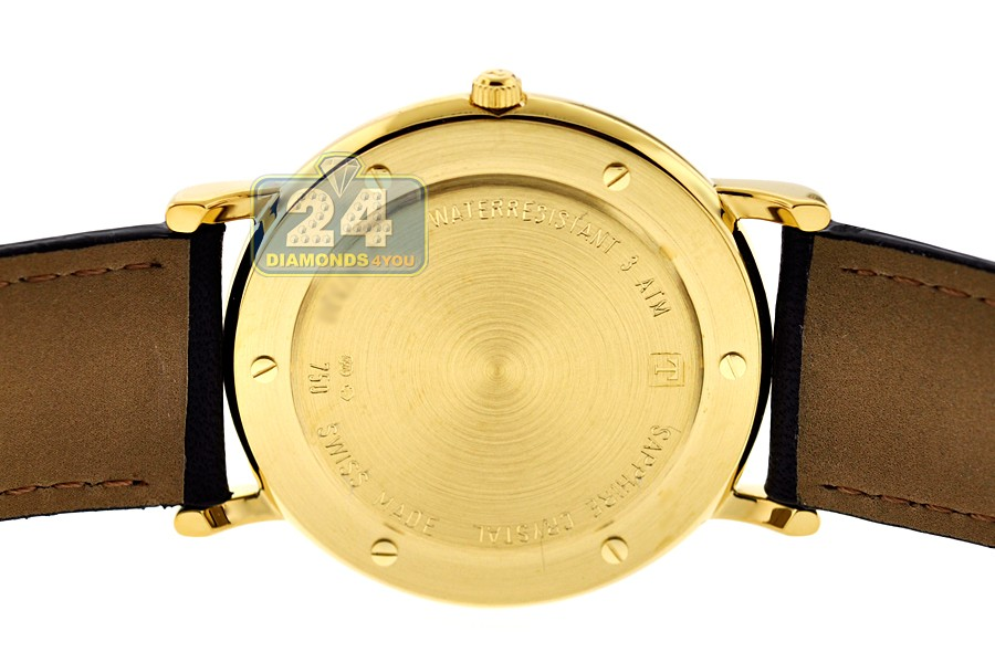 dffecced2 Tissot Carson 18K Yellow Gold Mens Watch T71.3.429.11