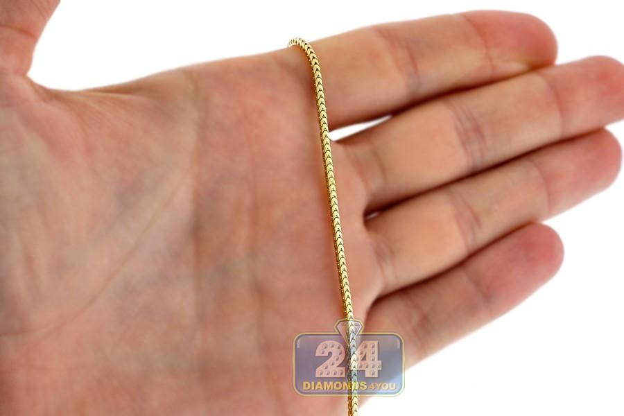 Italian 10k Yellow Gold Solid Franco Mens Chain 1 5 Mm
