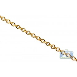10K Yellow Gold Cable Link Womens Chain 1.5 mm 18 Inches