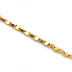 14K Yellow Gold Adjustable Fancy Link Womens Chain 1 mm 19 Inches