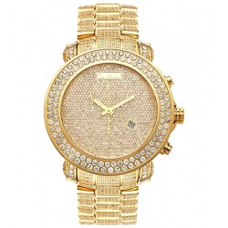 Mens Full Diamond Gold Watch Joe Rodeo Junior RJJU38 23.90 Ct