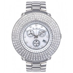 Mens 4 Rows Diamond Bezel Watch Joe Rodeo Junior JJU51 9.00 ct