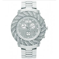 Mens Diamond Silver Watch Joe Rodeo Junior JJU159 4.25 Carats