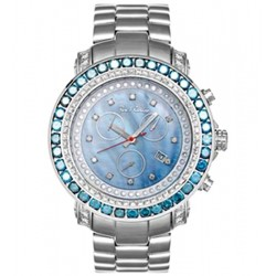 Mens Blue Diamond Bezel Watch Joe Rodeo Junior RJJU6 13.90 ct