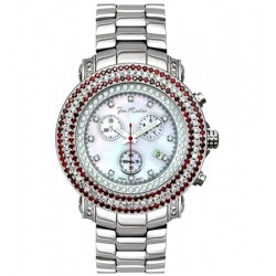 Mens White Red Diamond Watch Joe Rodeo Junior RJJU2 7.00 Carat