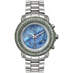 Mens Green White Diamond Watch Joe Rodeo Junior RJJU3 7.00 ct