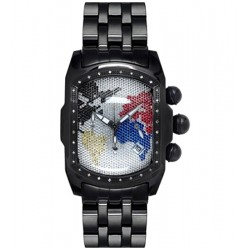 Joe Rodeo King Bubble 0.36 ct Diamond Mens Black PVD Watch JKI24