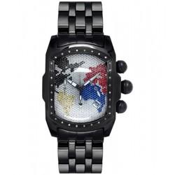 Joe Rodeo King Bubble 0.36 ct Diamond Mens Black PVD Watch JKI24