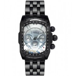 Joe Rodeo Black PVD Bubble .36 ct Diamond Mens Silver Watch JKI25(WYB)