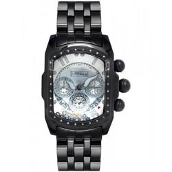 Joe Rodeo Black PVD Bubble .36 ct Diamond Mens Silver Watch JKI25(WYB)