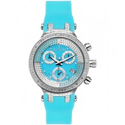 Womens Diamond Watch Joe Rodeo Master JJML4 0.90 ct Blue Dial