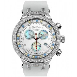 Mens Diamond Watch Joe Rodeo Master 2.20 ct JMS1(WYB) White