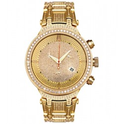 Mens Diamond Watch Joe Rodeo Master JJM18 5.20 ct Yellow Gold