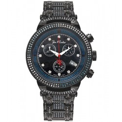Mens Black Blue Diamond Watch Joe Rodeo Master 4.75 ct JJM67