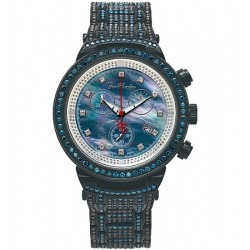 Mens Blue Black Diamond Watch Joe Rodeo Master JJM64 25.00 ct