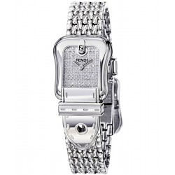 Fendi B. Fendi Diamond Steel Mesh Womens Watch F386240DP