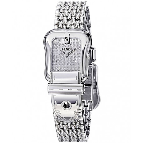 F386240DP Fendi B. Fendi Diamond Dial Steel Mesh Womens Watch