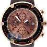 Aqua Master 0.24 ct Diamond Rose PVD Steel Leather Mens Watch