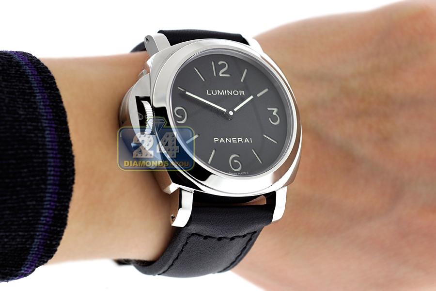 the latest bda0a b3c1c Panerai Luminor Base Left-Handed Mechanical Mens Watch PAM00219