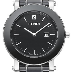 Fendi Black Ceramic Round 38 mm Womens Watch F641110