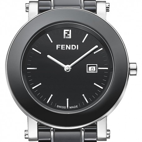 F641110 Fendi Black Ceramic Round Womens Bracelet Watch 38mm