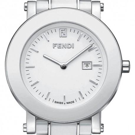 F642140 Fendi White Ceramic Round Womens Bracelet Watch 38mm