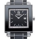 Fendi Black Ceramic Square Diamond 32 mm Watch F621110DDC