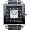 Fendi Black Ceramic Square Diamond Womens Watch F625110DPDC