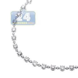 14K White Gold 3.43 ct Diamond Womens Tennis Bracelet 7 Inches