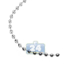 Womens Diamond Halo Tennis Bracelet 14K White Gold 1.16 ct 3mm