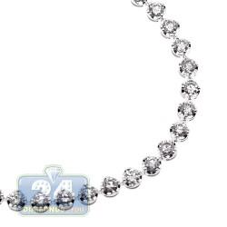 14K White Gold 4.55 ct Diamond Womens Tennis Bracelet 7 Inches