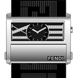 F115111D Fendi Zip Code 1150 Diamond Black Dial Fabric Watch