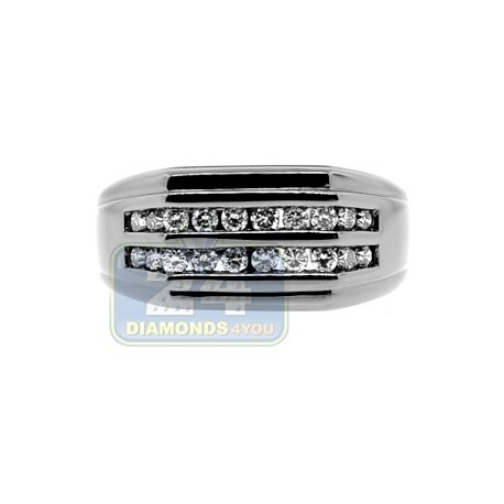 Black PVD 14K Gold 0.49 ct Diamond Mens Ring