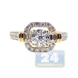 14K Yellow Gold 1.22 ct Diamond Engagement Ring