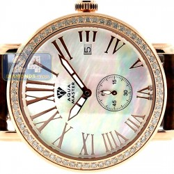 Aqua Master Automatic 1.25 ct Diamond Womens Rose Watch