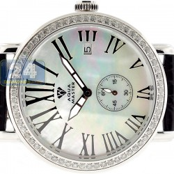 Aqua Master Automatic 1.25 ct Diamond Womens Silver Watch
