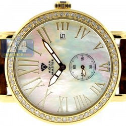 Aqua Master Automatic 1.25 ct Diamond Womens Yellow Watch