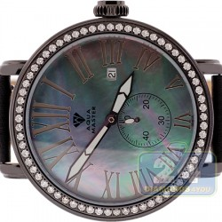 Aqua Master Round Automatic 2.25 ct Diamond Black Watch