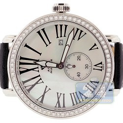 Aqua Master Round Automatic 2.25 ct Diamond Silver Watch