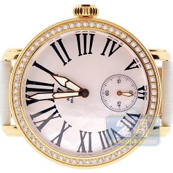Aqua Master Round Automatic 2.25 ct Diamond Yellow Watch