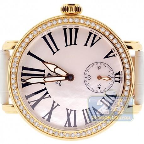 Mens Diamond Yellow Watch Aqua Master Round Automatic 2.25 ct