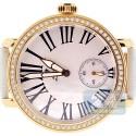 Aqua Master Round Automatic 2.25 ct Diamond Yellow Watch