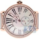 Aqua Master Round Automatic 2.25 ct Diamond Rose Watch