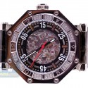 Aqua Master Automatic Skeleton 1.00 ct Diamond Mens Steel Watch