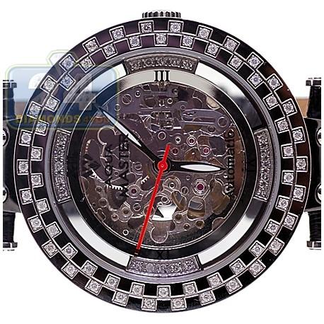 Aqua Master Skeleton 1.25 ct Diamond Black PVD Mens Watch