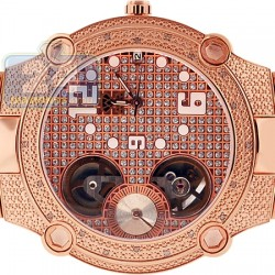 Aqua Master Automatic 0.20 ct Diamond Mens Rose Watch