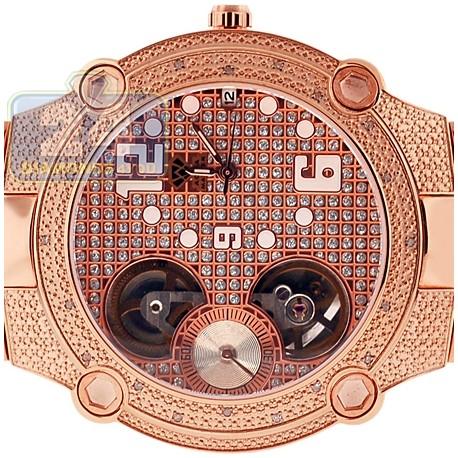 Aqua Master Automatic 0.20 ct Diamond Mens Rose Watch